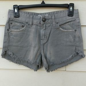Free People Shorts 24 Distressed Green Fray Fade